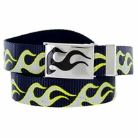 BF50173 Flame Canvas Military Web Punk Belt 1. 25 inch wide - Navy