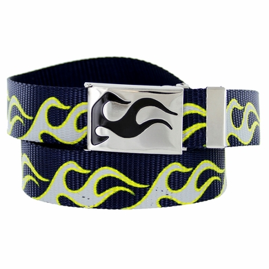 BF50173 Flame Canvas Military Web Punk Belt 1.25 inch wide - Navy