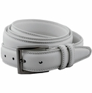 *Big and Tall* Florsheim 5-1138 White Casual Dress Belt 1-1/4""