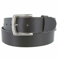 "Big and Tall Made in USA 100% Full Grain One-Piece Cowhide Leather Casual Jean Belt up to Size 60"" Black Brown"