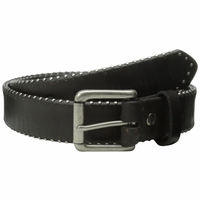 "Bill Adler 23317 1-1/2"" (38mm) Wide Studded Edges Leather Belt with Roller Buckle"