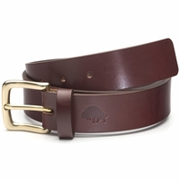 Bison Made No. 1 Belt - Burgundy, Brass Buckle