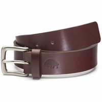 Bison Made No. 1 Belt - Burgundy, Nickel Buckle