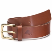 Bison Made No. 1 Belt - Cognac, Brass Buckle