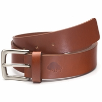 Bison Made No. 1 Belt - Cognac, Nickel Buckle