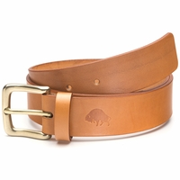 Bison Made No. 1 Belt - Golden Tan, Brass Buckle
