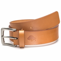 Bison Made No. 1 Belt - Golden Tan, Nickel Buckle