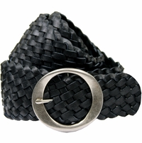"Black Basketweave 2. 5"" Tapered to 2"" Belt"