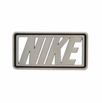 Black Enamel Edged NIKE Buckle