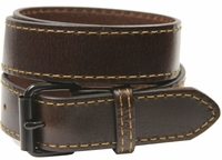 Black Roller Buckle 1051 Brown Genuine Leather Belt $24.95