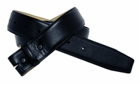 "Black Smooth Leather Belt Strap 1 1/2"" wide"