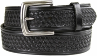 "10311 Boston Basketweave Men's Work Uniform Casual Belt 1 1/2"" Wide-Black $25.00"