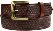 "10310 Boston Basketweave Men's Work Uniform Casual Belt 1 1/2"" Wide-Brown $25.00"