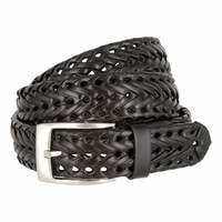 Braided Woven Casual Jean Genuine Leather Belt