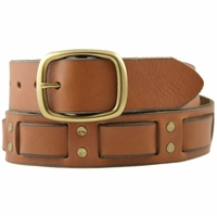 Brown Bart Genuine Leather Vintage 60's style Jean Belt