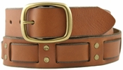 Brown Bart Genuine Leather Vintage 60's style Jean Belt $27.50