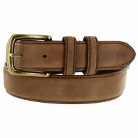 2777 Men's Brown Crazy Horse Western Leather Dress Belt
