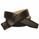 """Brown Smooth Leather Belt Strap 1 1/2"""" wide"""