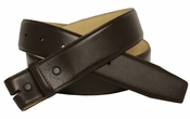 "Brown Smooth Leather Belt Strap 1 1/2"" wide"