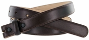 """Brown Smooth Leather Belt Strap 1"""" Wide"""