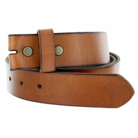"BS040 Genuine Vintage Full Grain Leather Belt Strap 1 1/2"" Wide-Tan"