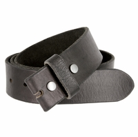 "BS040 Vintage Full Grain Leather Belt Strap 1 1/2"" Wide-Black"