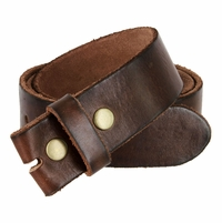 "BS040 Vintage Full Grain Leather Belt Strap 1 1/2"" Wide- Dark Brown"