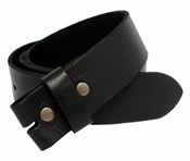 "BS041 Full Grain Leather Belt Strap 1 3/4"" Wide-Black"