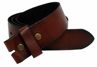"BS041 Full Grain Leather Belt Strap 1 3/4"" Wide-Coffee"