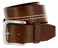 "BS043 Men's Genuine Leather Casual Jean Belt 1-3/4"" Wide"