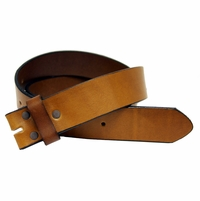 "BS048 Tan Italian Saddle Full Grain Leather Belt Strap 1 1/2"" Wide"