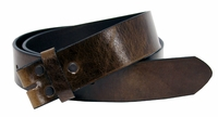 "BS055 Brown Italian Saddle Full Grain Leather Belt Strap 1 1/2"" Wide"