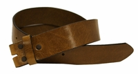 "BS055 Tan Italian Saddle Full Grain Leather Belt Strap 1 1/2"" Wide"
