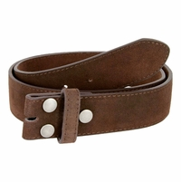 """BS066 Brown Suede Leather Belt Strap 1 1/2"""" Wide"""
