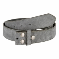 """BS066 Gray Suede Leather Belt Strap 1 1/2"""" Wide"""