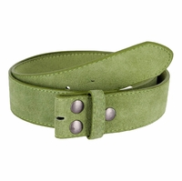 """BS066 Green Suede Leather Belt Strap 1 1/2"""" Wide"""