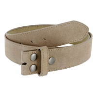 """BS066 Tan Suede Leather Belt Strap 1 1/2"""" Wide"""