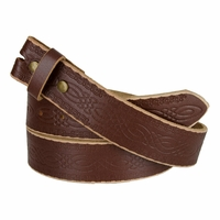 """BS085 Full Grain Tooled Leather Belt Strap 1-1/2"""" wide Dr. Brown"""