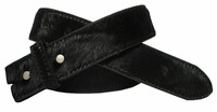 BS095 Black Hair On Leather Belt Strap
