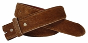 BS095 Brown Hair On Leather Belt Strap