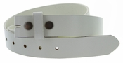 "BS100 Genuine Leather Belt Strap 1-1/4"" Wide - Cream"
