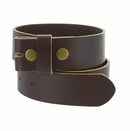 """BS105035 One Piece Full Genuine Leather Belt Strap 1-3/8"""" (35mm) Wide-Brown"""