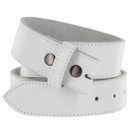 BS1200 100% Leather Belt Strap - White