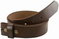"BS121 Brown Full Grain Leather Belt Strap 1-1/2"" Wide"