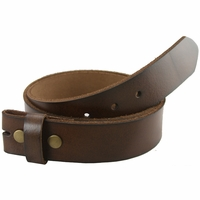 "BS121 Brown Genuine Leather Belt Strap 1-1/2"" Wide"