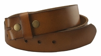 "BS121 Tan Full Grain Leather Belt Strap 1-1/2"" Wide"