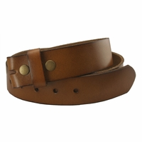 "BS121 Tan Genuine Leather Belt Strap 1-1/2"" Wide"