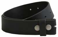 BS1300 100% Genuine Leather Belt Strap - Black