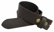 BS1300 100% Leather Belt Strap - Brown