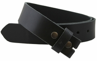 "BS1300 Big And Tall 46"" to 60"" 100% Leather Belt Strap - Black"